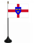 East Anglia Desk / Table Flag with plastic stand and base.